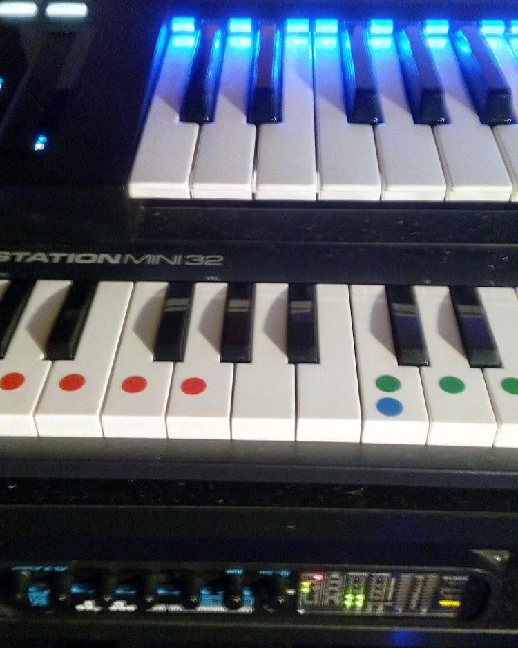 maschine, komplete kontrol ks25, m-audio keystation, motu