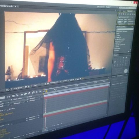editing with after effects - horror music video